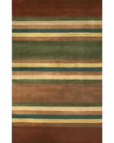 """American Home Rug Co. Casual Contemporary Earth Tones Modern Stripes Area Rug WT004ERT Rug Size: Runner 2'6"""" x 8'"""