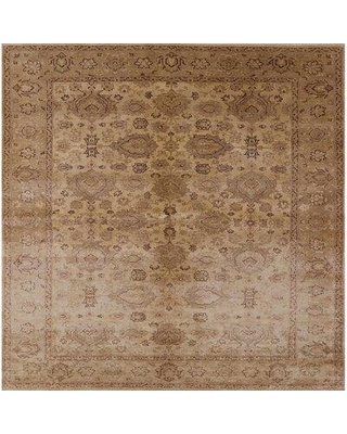 Great Deal On Bungalow Rose Emzie Oriental Brown Area Rug Wool Polyester In Brown Tan Size Square 3 Wayfair 7e8e9e2c6fe74d74b2d2c634fe105919