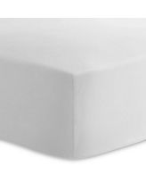 Kushies® Cotton Percale Fitted Crib Sheet in White