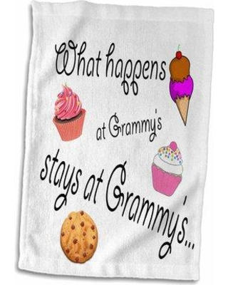 Symple Stuff Johansson What happens At Grammy's Stays Hand Towel W001280254