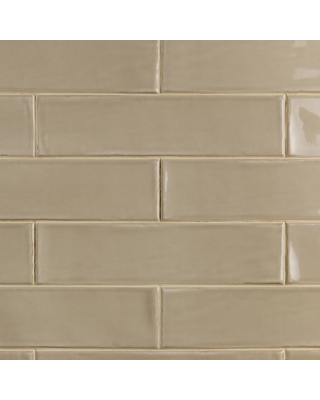 x 12 in 8mm Polished Ceramic Subway Tile 5.38 sq. ft. // Box Birmingham Taupe 3 in