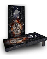 Custom Cornhole Boards Firefighter - First CCB1273-C Bag Fill: Heavier Boards with All Weather Bags/Handles