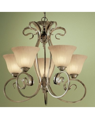 Big Savings For Manilla 5 Light Shaded Classic Traditional Chandelier Classic Lighting Glass Color Sandstone