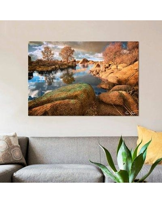 "East Urban Home 'Rocky Lake I' Photographic Print on Wrapped Canvas ERNI7593 Size: 12"" H x 18"" W x 0.75"" D"