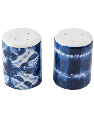 2pc Ceramic Tie Dye Salt and Pepper Shakers - Thirstystone