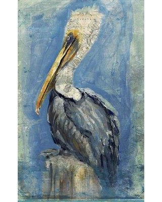"""Highland Dunes 'Brown Pelican' by Anthony Morrow Graphic Art Print on Wood HIDN6068 Size: 32"""" H x 20"""" W x 2"""" D"""