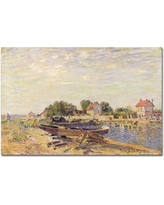 by Alfred Sisley 20x28 Museum Art Print Le Matin Morning Saint-Mammes