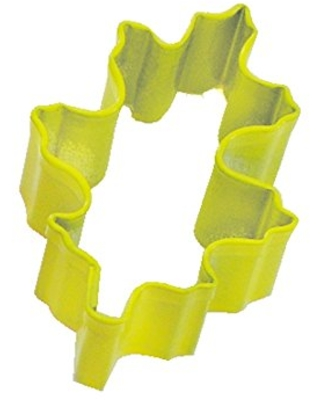 R&M Mini Oak Leaf Cookie Cutter Yellow With Brightly Colored, Durable, Baked-on Polyresin Finish