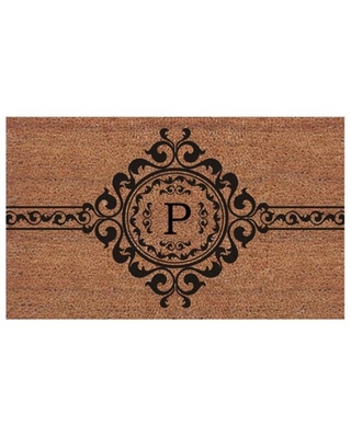 Calloway Mills Garbo Monogram Outdoor Doormat, Extra-thick 2' x 3' (Letter P)