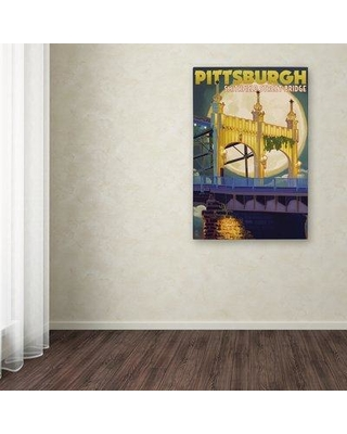 "Trademark Art 'Pittsburgh' Vintage Advertisement on Canvas ALI9295-C Size: 24"" H x 16"" W x 2"" D"