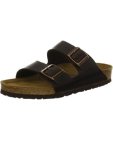 Birkenstock Arizona Soft Footbed Sandal - 36 - Brown Amalfi Leather