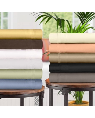 1500 Thread Count Egyptian Cotton Bedding Sheets & Pillowcases, 4-Piece Sheet Set by Impressions - Full