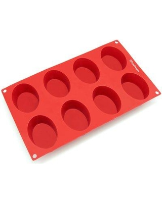 Freshware 8 Cavity Oval Silicone Mold Pan SL-118RD