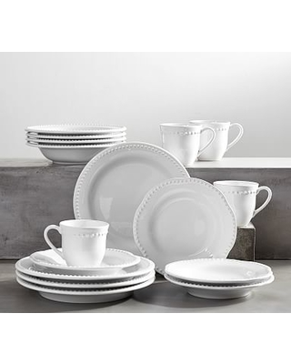 Emma Dinnerware 16 Piece Set with Soup Bowl - True White  sc 1 st  Better Homes and Gardens & Summer Shopping Special: Emma Dinnerware 16 Piece Set with Soup Bowl ...