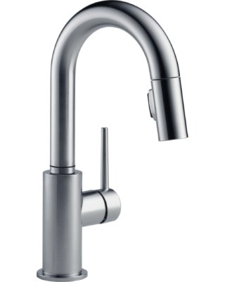 Delta Trinsic Pull Down Bar Faucet with MagnaTite® Docking and Diamond Seal Technology Finish: Arctic Stainless
