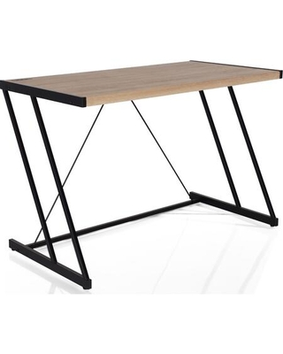 """Finis Collection 92348 47"""" Desk with USB Dock Rectangular Shape Engineered Wood Constrution Wood Veneer Top Material and """"Z"""" Shaped Metal Base in"""