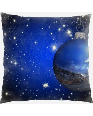 Shop Deals For The Holiday Aisle Bardwell Christmas Ornament Indoor Outdoor Canvas Throw Pillow Polyester Polyfill In Blue Size 18x18 Wayfair