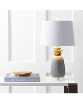 """Pineapple 23"""" Ceramic LED Table Lamp, Gray/Gold by JONATHAN Y (Grey/Gold)"""