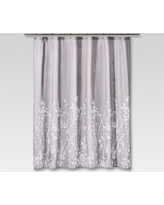 Floral Print Shower Curtain Gray - Project 62