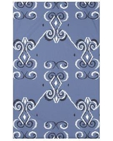 """e by design On the Line Polyester Fleece Throw Blanket HGN246 Size: 60"""" L x 50"""" W x 0.5"""" D, Color: Cadet"""