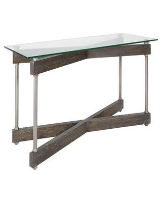 Glass Top Console Table, Transparent