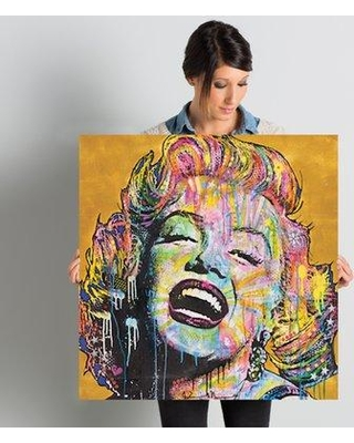 "East Urban Home 'Marilyn' Painting Print on Wrapped Canvas ESTN7798 Size: 26"" H x 26"" W x 0.75"" D"