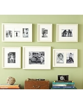 Gallery in a Box, Modern White Frames, Set of 6