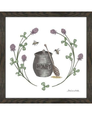 """Ophelia & Co. 'Happy to Bee Home IV' Drawing Print OPCO5722 Size: 27.5"""" H x 27.5"""" W x 0.75"""" D Format: Framed Plexiglass"""