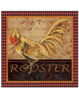 """Trademark Art 'Ruler Of The Roost Series 2' Graphic Art Print on Wrapped Canvas ALI37383-CGG Size: 24"""" H x 24"""" W x 2"""" D"""