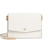 Tory Burch Robinson Convertible Leather Shoulder Bag - White