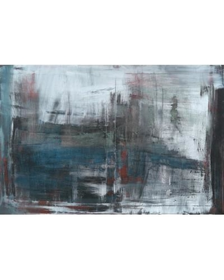"""East Urban Home Move Painting Print on Wrapped Canvas USSC9025 Size: 18"""" H x 26"""" W x 1.5"""" D"""