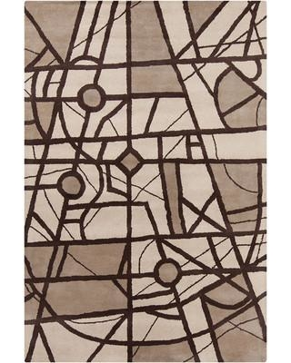 Brayden Studio® Oritz Hand Tufted Wool Brown/Tan Area Rug CSZT7615
