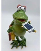 Big Deal On Tree Frog On Toilet With Cell Phone Figurine Trinx