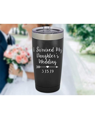 I survived My daughter's Wedding, Wedding favor, Father of the bride, Mother of the bride, Beer glass