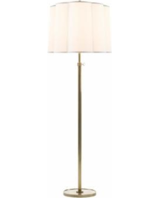 Visual Comfort and Co. Barbara Barry Simple Scallop 62 Inch Floor Lamp - BBL 1023SB-S