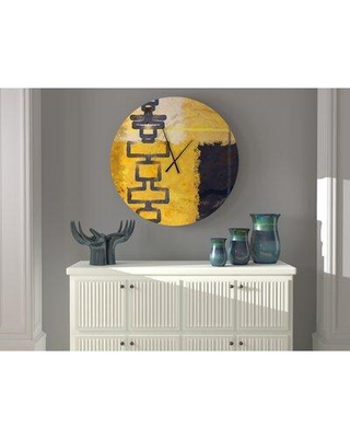 East Urban Home Oversized Mendenhall Wall Clock X111178284 Size: Large