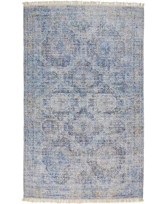 """Darby Home Co Feaster Hand-Knotted Cotton/Wool Blue Area Rug X111447757 Rug Size: Rectangle 3'6"""" x 5'6"""""""