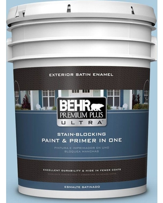 BEHR Premium Plus Ultra 5 gal. #M500-2 Early September Satin Enamel Exterior Paint and Primer in One