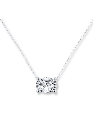 c3fb4c809af9e Jared The Galleria Of Jewelry Diamond Solitaire Necklace 1 carat Oval 14K  White Gold from Jared The Galleria of Jewelry | more