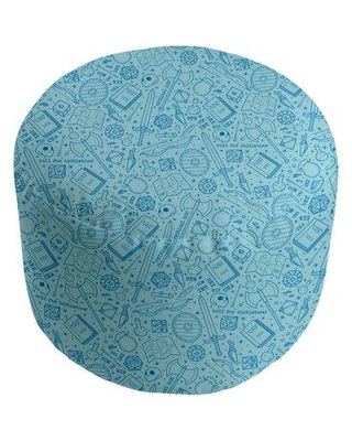 """Latitude Run® Avicia RPG Pouf Upholstery, Polyester/Polyester Blend in Sky Blue, Size Large/Oversized (Width Over 60"""")   Wayfair"""