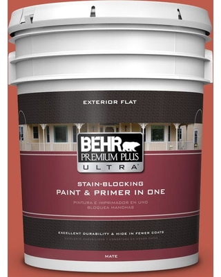 BEHR ULTRA 5 gal. #M170-7 Tandoori Flat Exterior Paint and Primer in One