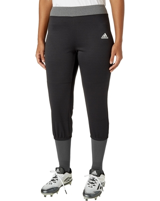 adidas Women's Knit Softball Pants, Size: Large, Black
