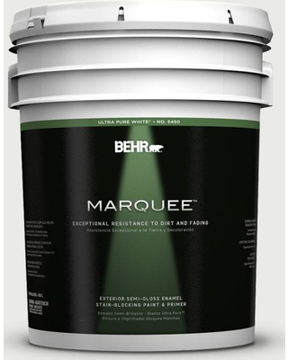 BEHR MARQUEE 5 gal. #780E-2 Full Moon Semi-Gloss Enamel Exterior Paint and Primer in One