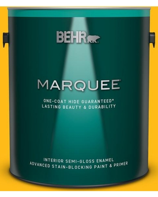 BEHR MARQUEE 1 gal. #320B-7 Macaw Semi-Gloss Enamel Interior Paint and Primer in One