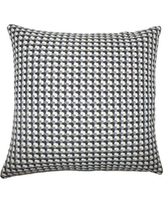 """The Pillow Collection Nadezhda Geometric Throw Pillow TPLC3926 Size: 18"""" H x 18"""" W x 5"""" D Color: Domino"""