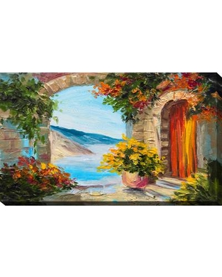 """Picture Perfect International 'European Vista' Painting Print on Wrapped Canvas 704-3829 Size: 24"""" H x 40"""" W x 1"""" D"""