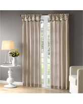 """Lillian Twisted Tab Lined Curtain Panel Ivory (50""""x84"""")"""