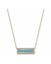 """Argento Vivo Enamel & Cubic Zirconia Bar 18"""" Pendant Necklace in 18k Gold-Plated Sterling Silver - Gold"""