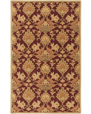 Charlton Home® Higate Floral Handmade Tufted Wool Beige Area Rug DIMI3579 Rug Size: Rectangle 5' x 8'