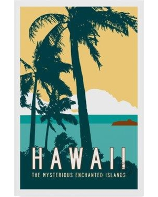 """Ebern Designs 'Hawaii Travel Poster' Graphic Art Print on Wrapped Canvas ENDE3431 Size: 19"""" H x 12"""" W x 2"""" D"""